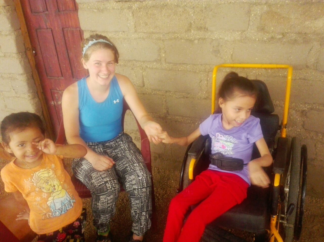 Naomi made a new friend with The Mercy Kids volunteer Serenity. A sweet moment.