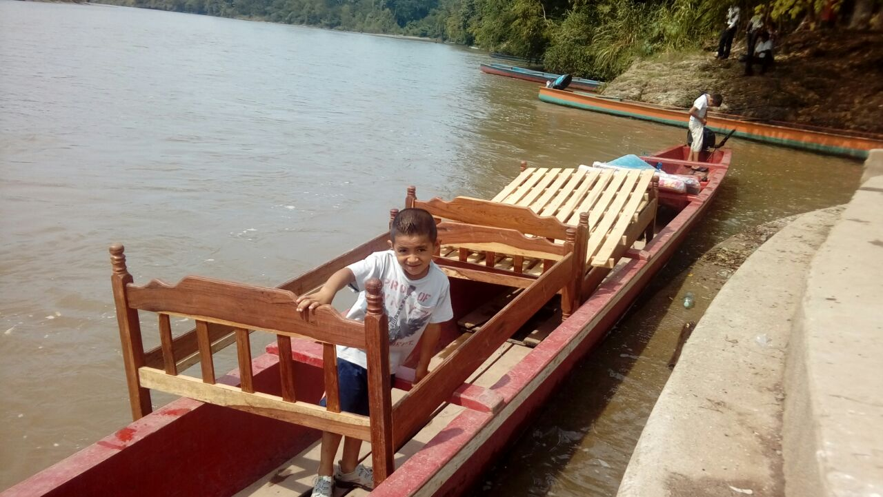 """This is a bed ready to make a six hour boat ride to a child in our """"Mercy Program."""" Thank you to the generous donor who wanted to make a difference in the life of a child with disabilities."""