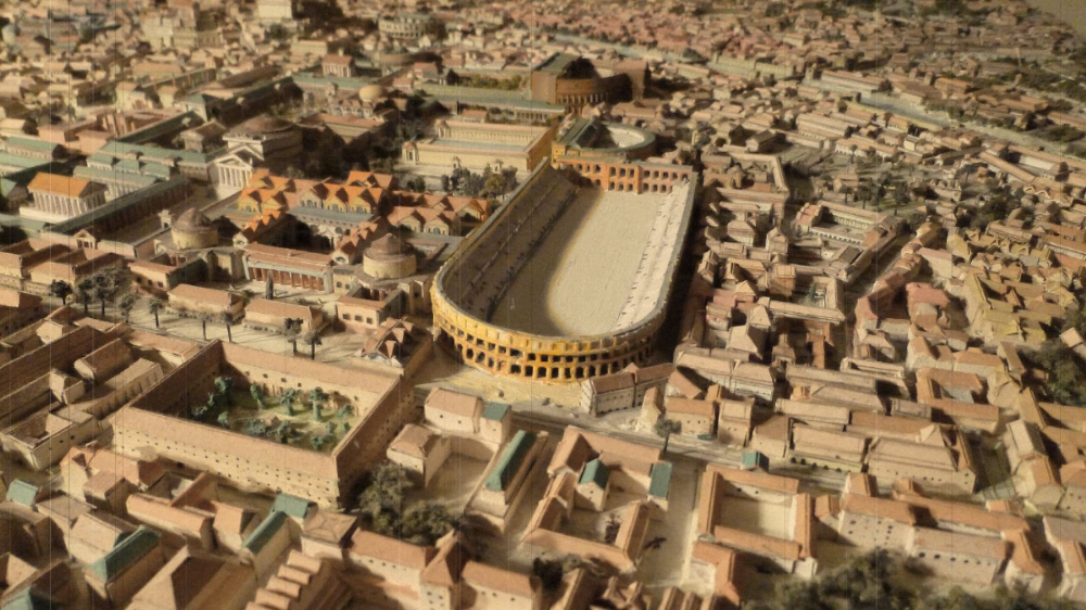 The Stadio di Domiziano, where Piazza Navona is today; Rome, Italy   ** Source:http://www.artslife.com/2015/07/15/sotterranei-di-piazza-navona-lo-stadio-di-domiziano/