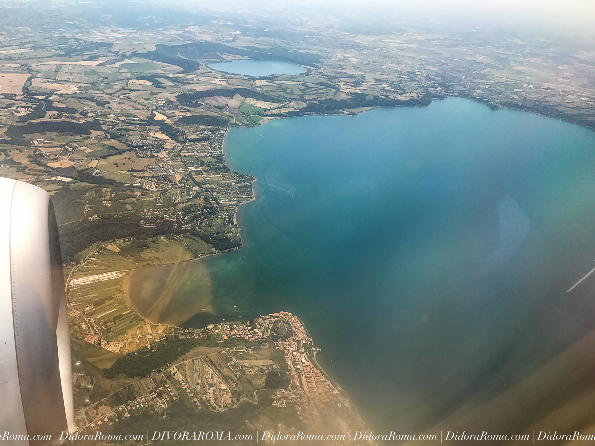 Bracciano Lake from the air (DivoraRoma, May 2017)