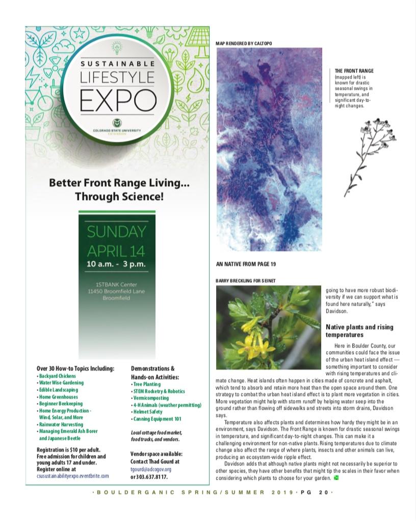 Native Gardens   Bouderganic Magazine  Spring/Summer 2019 Issue  Page 2/3
