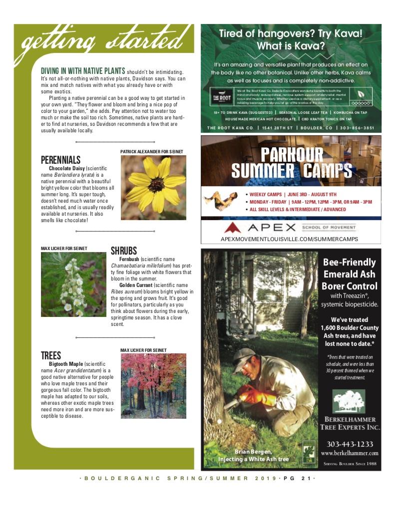 Native Gardens   Bouderganic Magazine  Spring/Summer 2019 Issue  Page 3/3