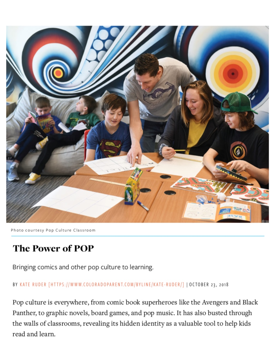 The Power of Pop Culture   Colorado Parent Magazine  November 2018 Issue  Page 1/4