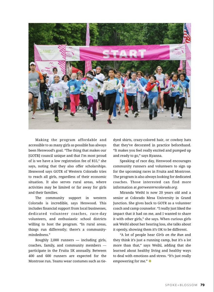 Teaching Girls to Run…And a Whole Lot More  Spoke + Blossom  Spring 2019 Issue  Page 4/4