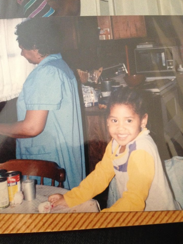 Me, painted nails and in the kitchen with my Big Mama in Elon, NC