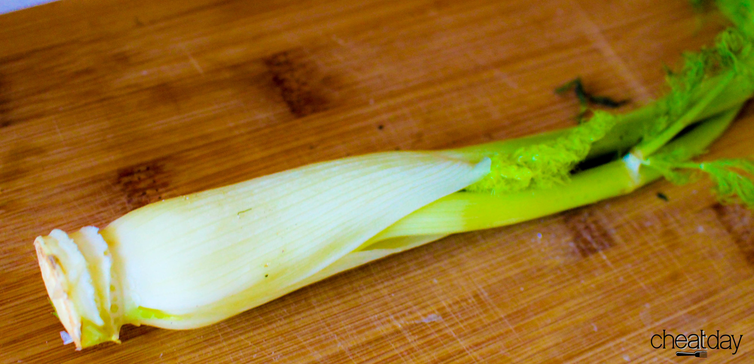 Fennel Here. This is a small bulb. After removing the fonds, outer leaves and the stem, I cut and slice in thin strips.