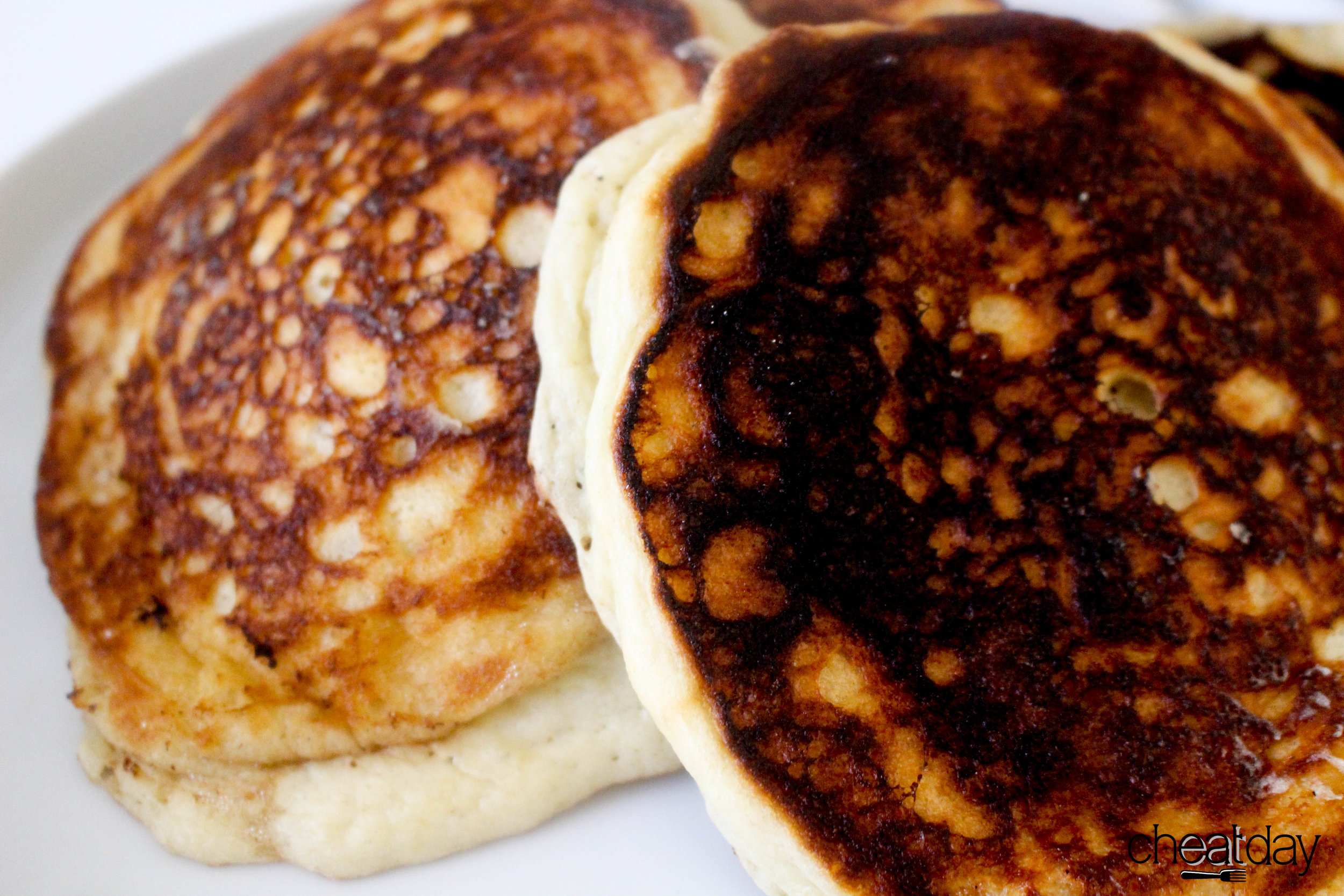 Making delicious pancakes batter and toppings I can do. Cooking pancakes...well...I'm working on it!