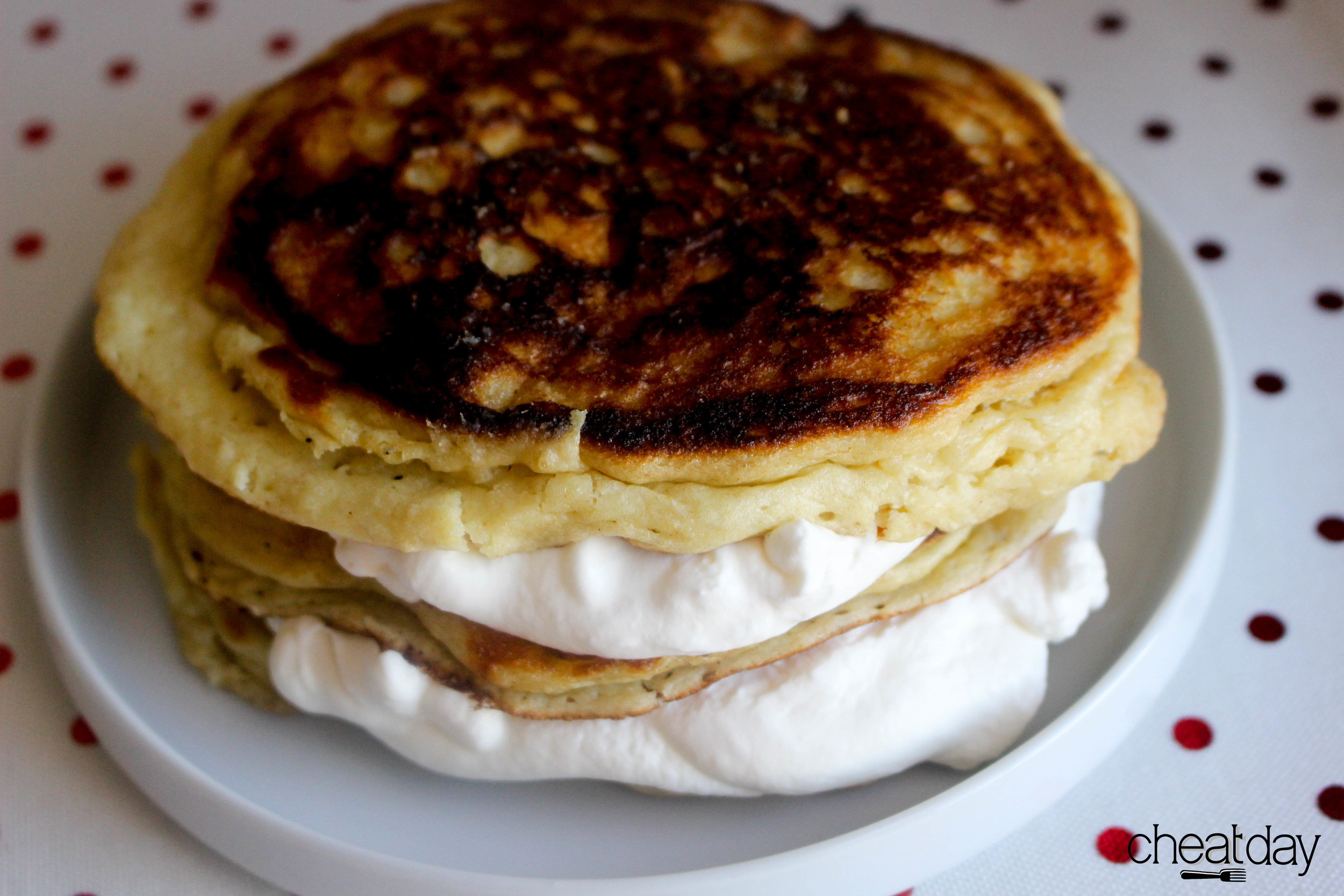 Layers of vanilla-bourbon whipped cream between the pancakes. Honestly...I could've stopped here. BUT...