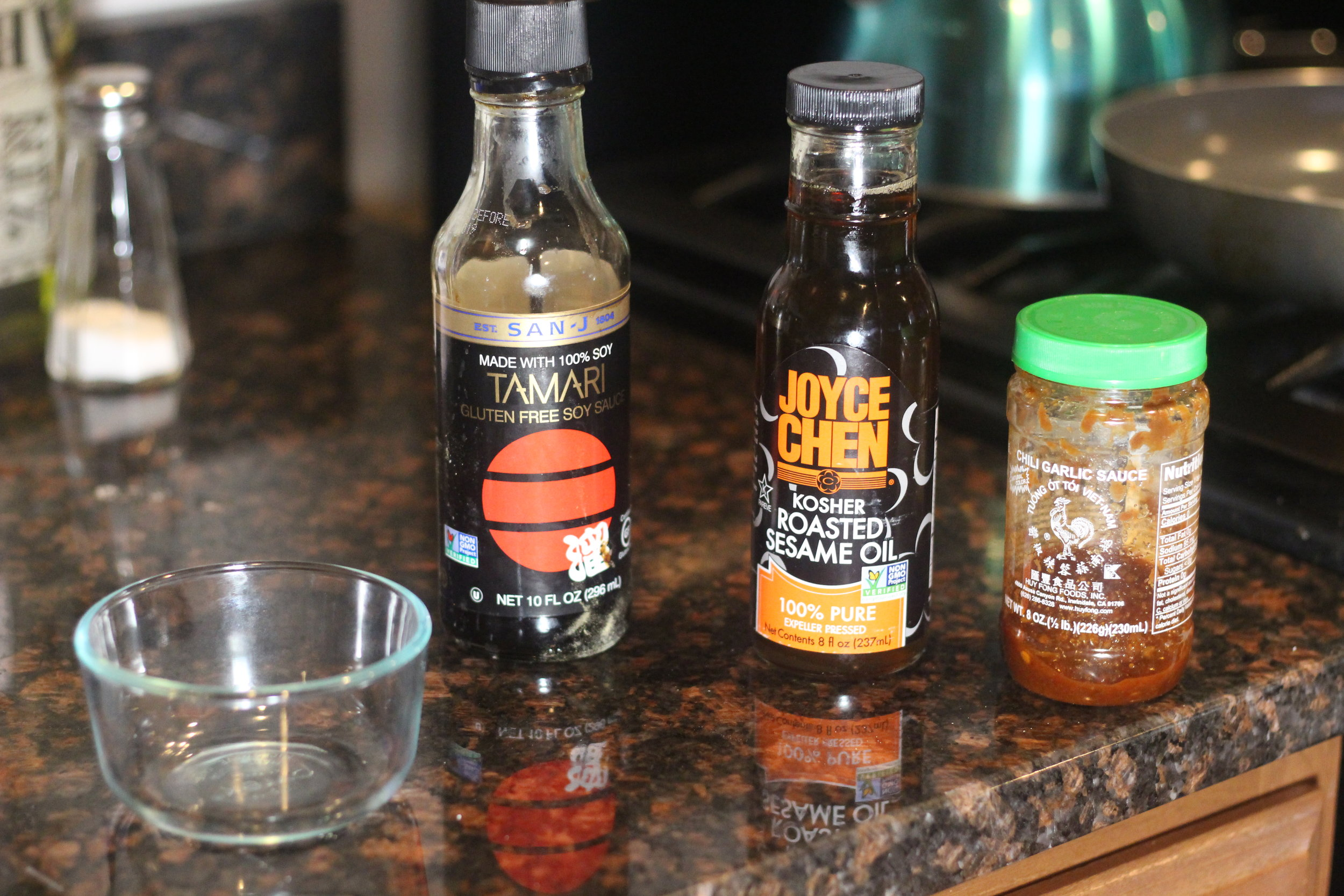 These three sauces mixed together and you have a wonderfully balanced, but flavorful dish!