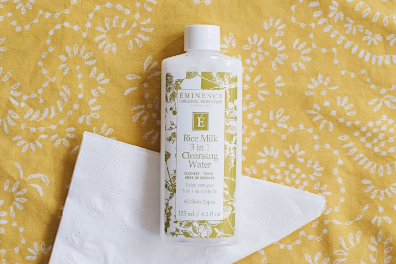 1. Skin - I am a huge fan of this 3 in 1 Cleansor by Eminence. It feels light, but still does the job of cleaning and toning my skin. I also think it's the best way to prep my skin for the day.