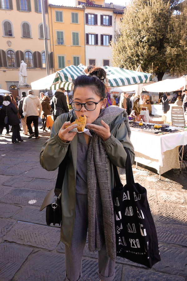 Enjoyed a lovely quiche at the market and also bought some jelly and pesto from locals.