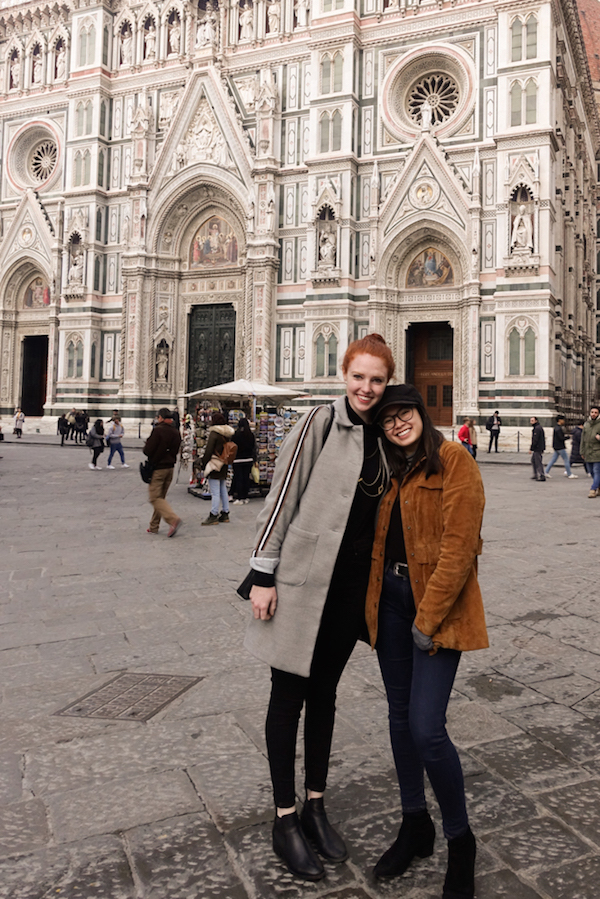 Another picture of Courtney and I, but this time without gelato and in front of the Duomo.