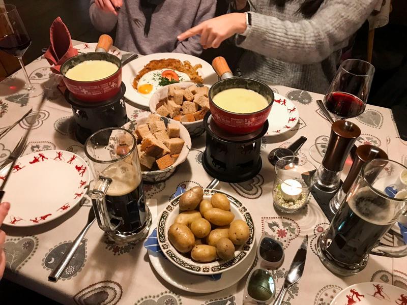 Delicious cheese fondue