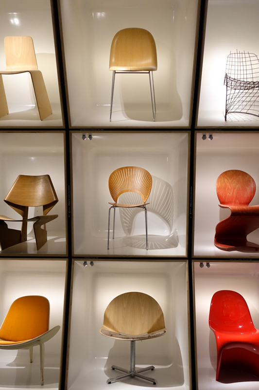 Chairs at the Denmark Design Museum