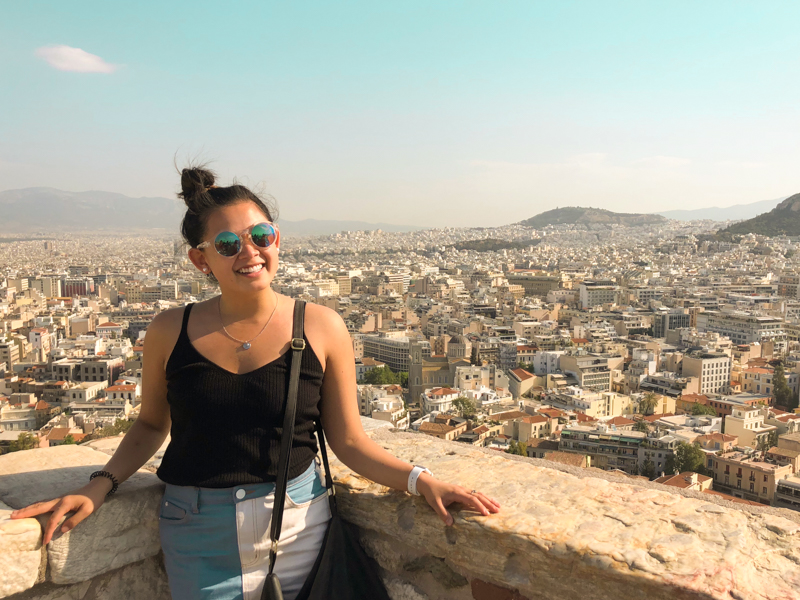 4.20.18. View from the Acropolis + me