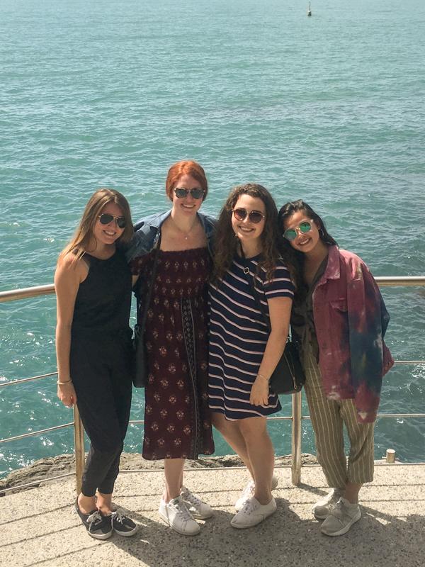 4.6.18. Cinque Terre: Charlie, Courtney, Caroline & me