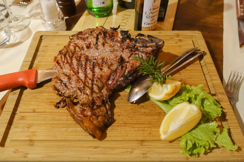 4.24.18. Il Paiolo: Florentine steak