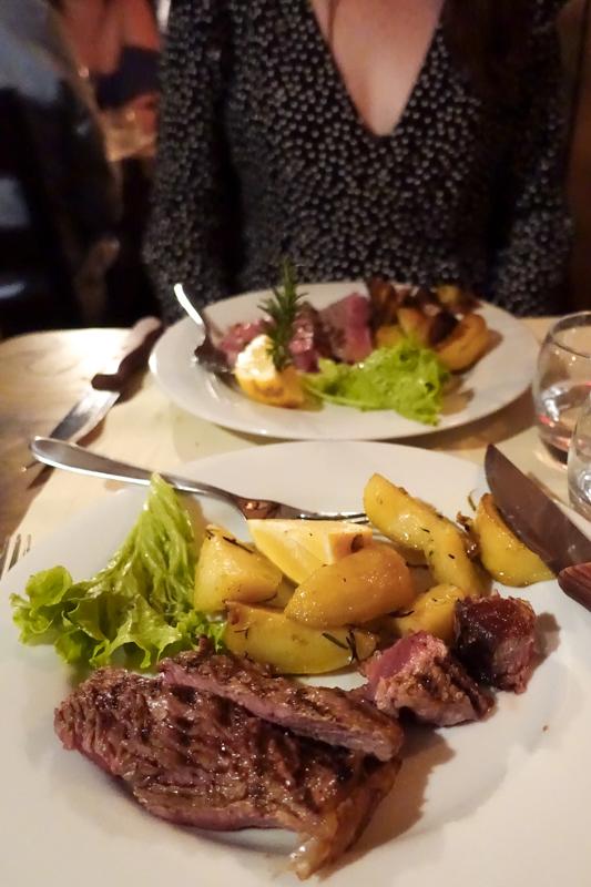 4.24.18. Florentine steak and potatoes