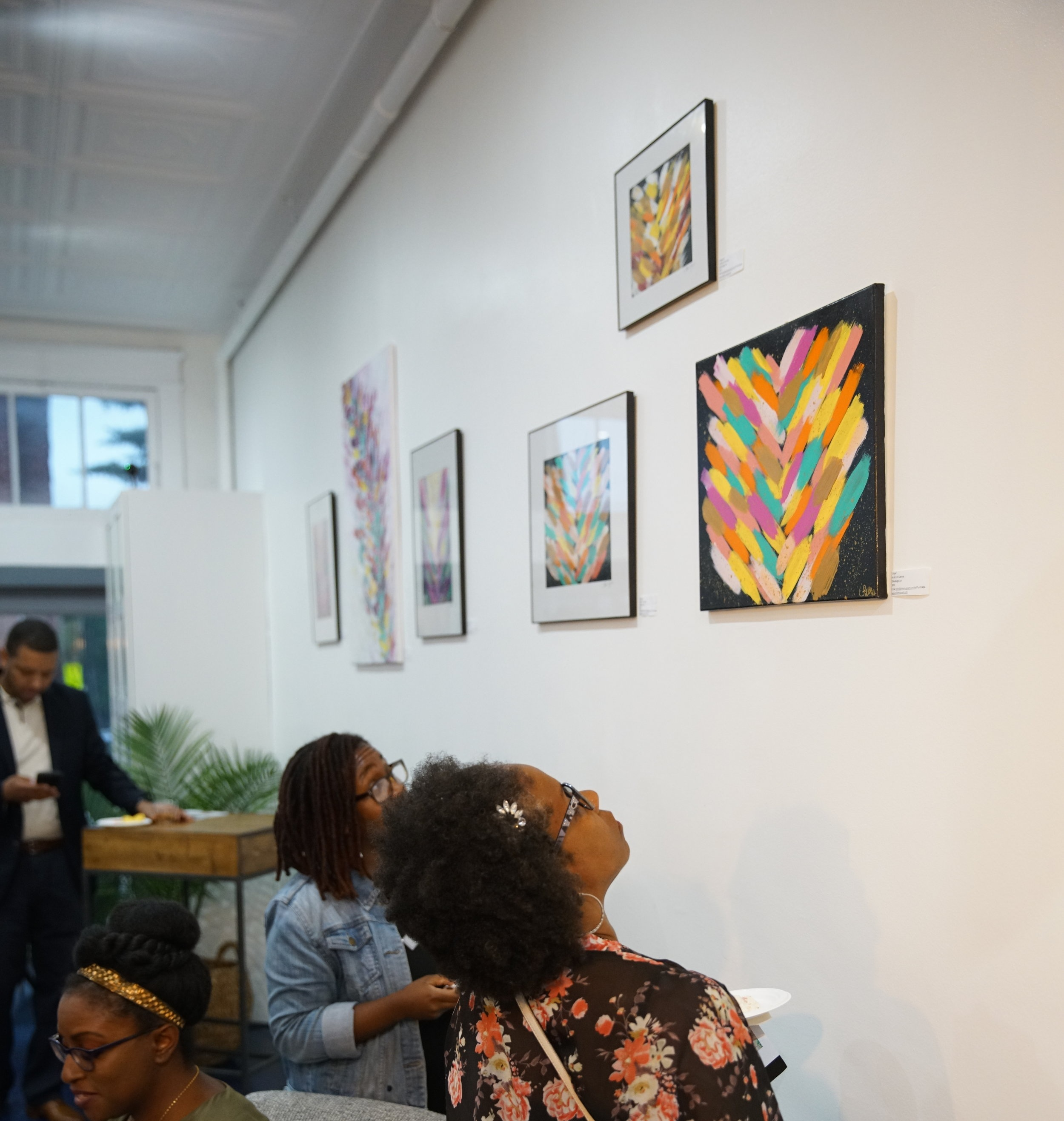 #1 Sillie Mugo's Exhibit - This summer, we kicked off our art exhibit series. Our walls were intentionally kept bare so that we could eventually display the beautiful work of local artists. Sillie Mugo was our first artist, which kicked off with a debut exhibit opening, libations and great conversation. Bloggers, photographers, artists, and other creatives met up and brought so much great energy into the space! Check out her work here.