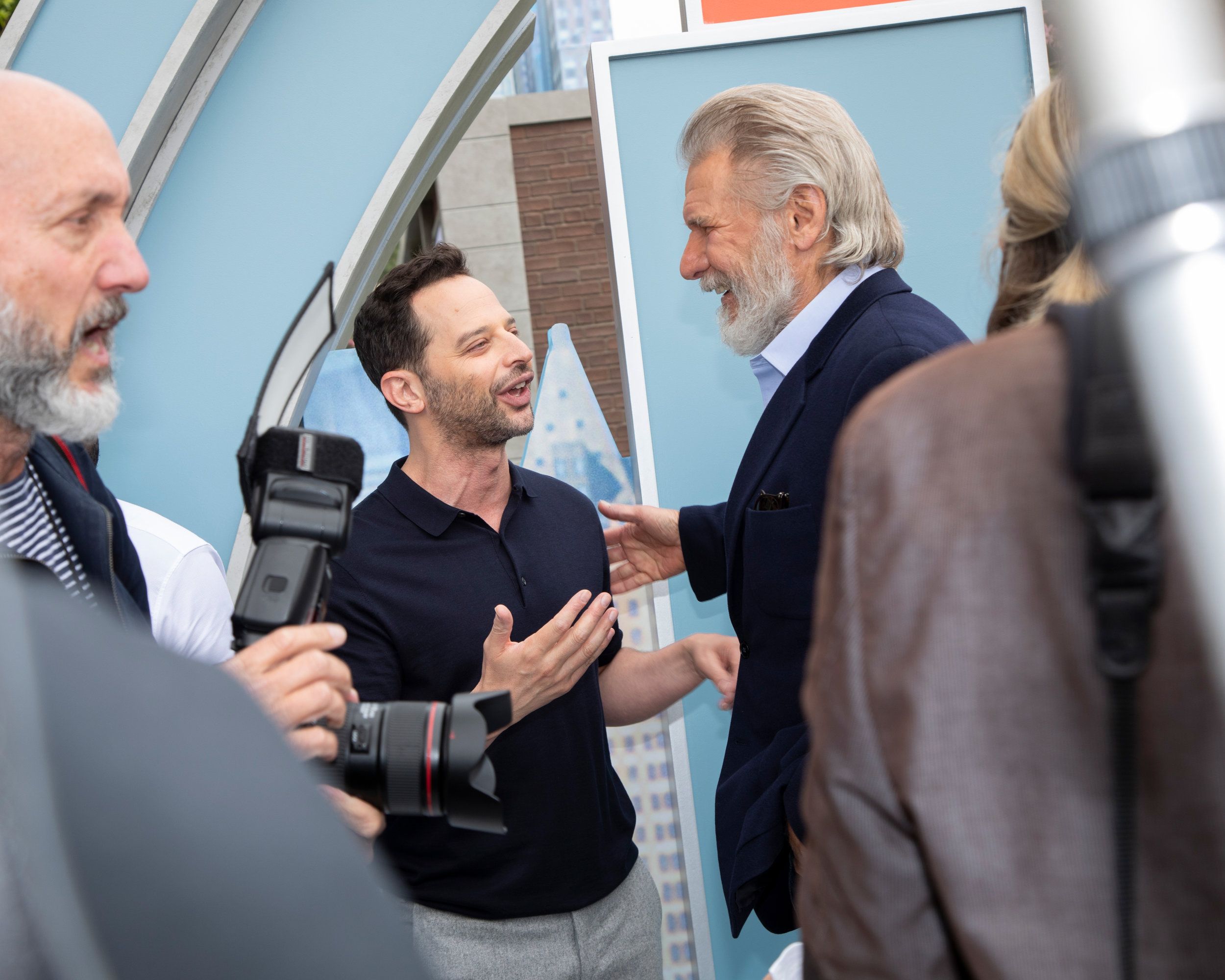 Nick Kroll and Harrison Ford at the Secret Life of Pets 2: Premiere, at the Regency Village Theatre, for BFA