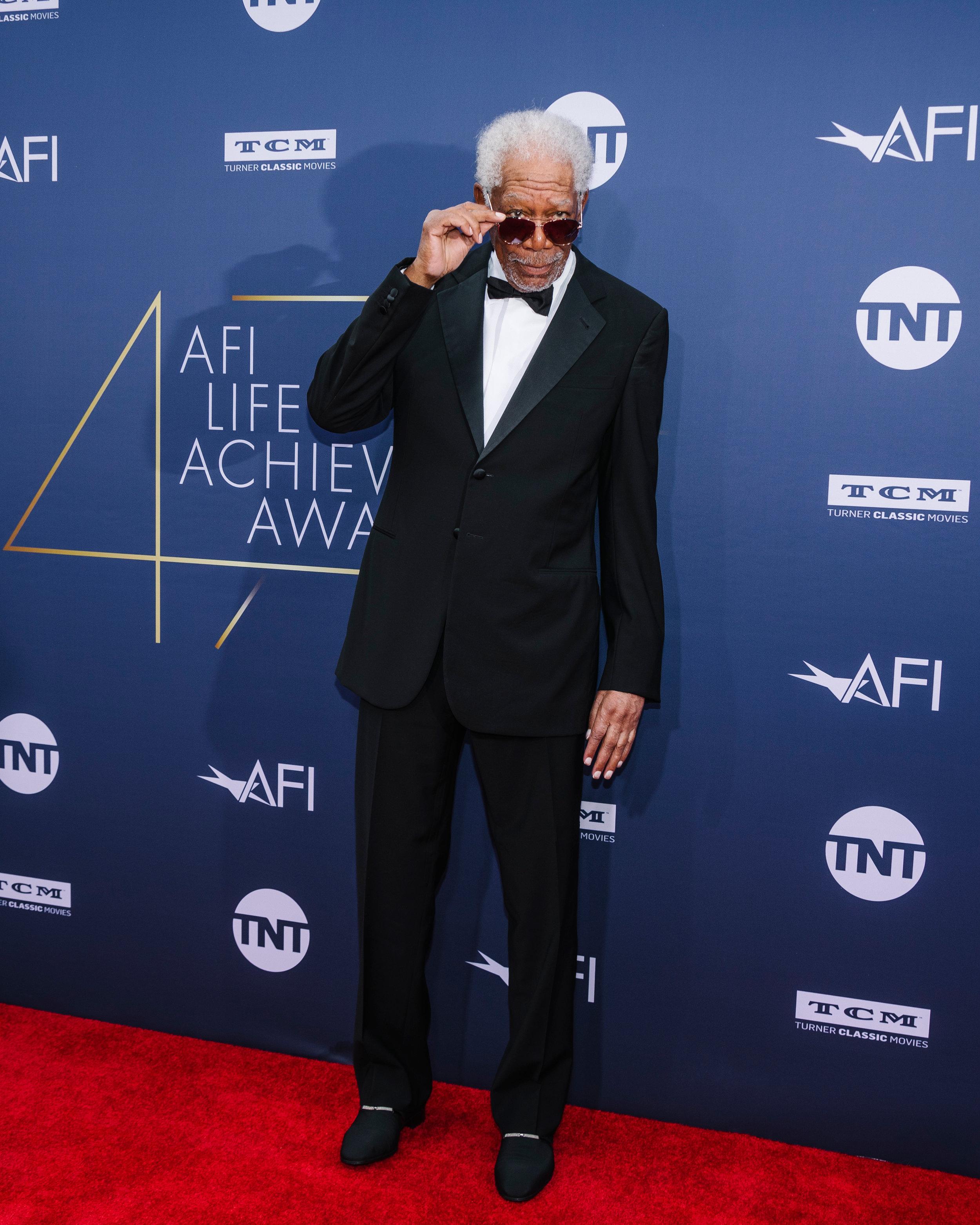 Morgan Freeman at the AFI Lifetime Achievement Award: Honoring Denzel Washington, at the Dolby Theater, for BFA
