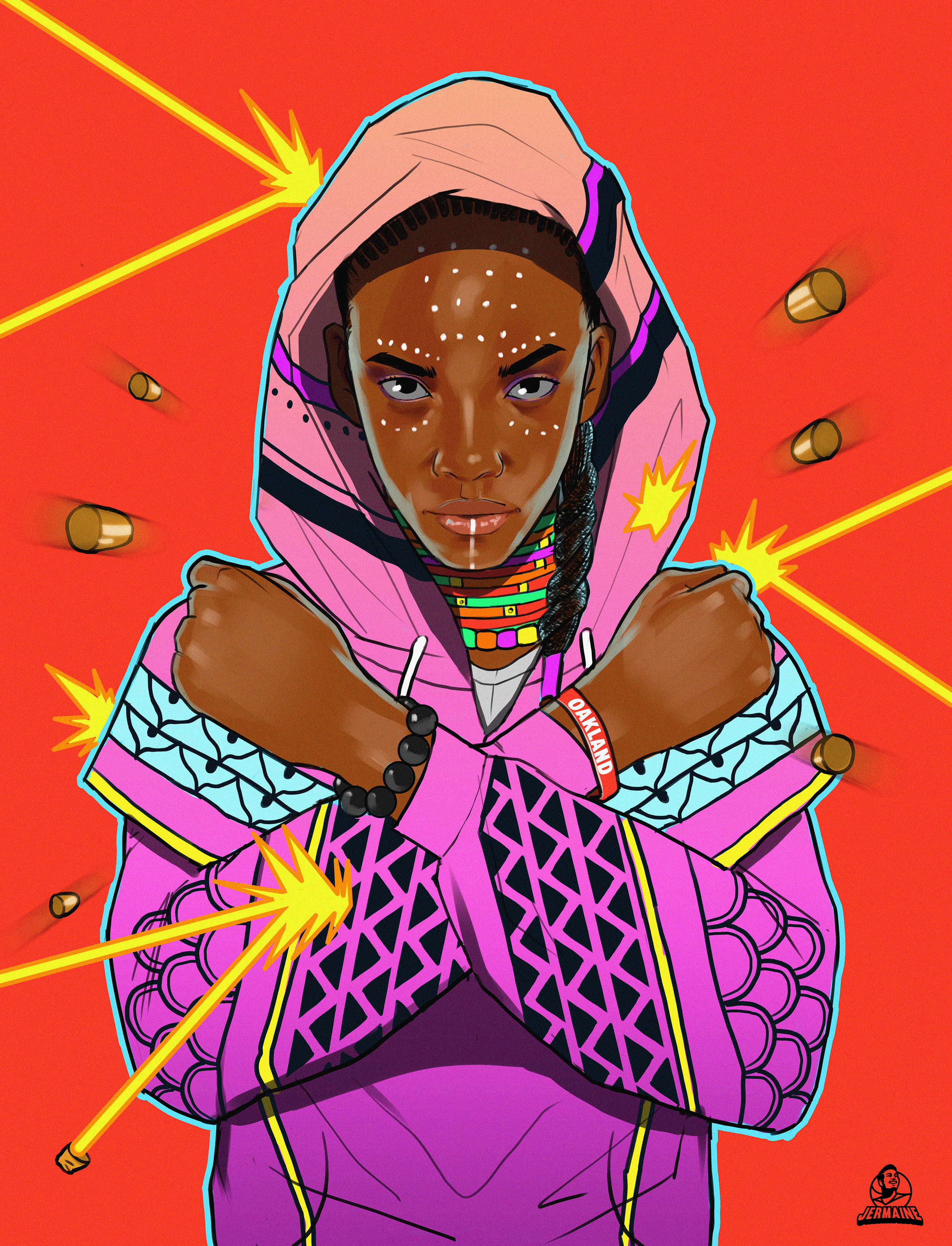 Shuri from Black Panther fan art by Jermaine Dickerson  -
