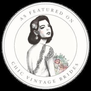 Chic Vintage Brides Featured Badge