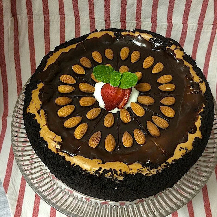 CHOCOLATE AMARETTO CHEESECAKE   Courtesty of A Lowcountry Backyard