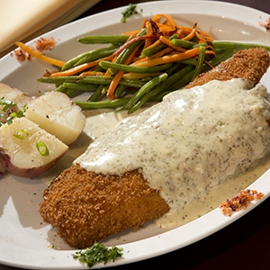 Parmesan Crust Flounder Courtesy May River Grill