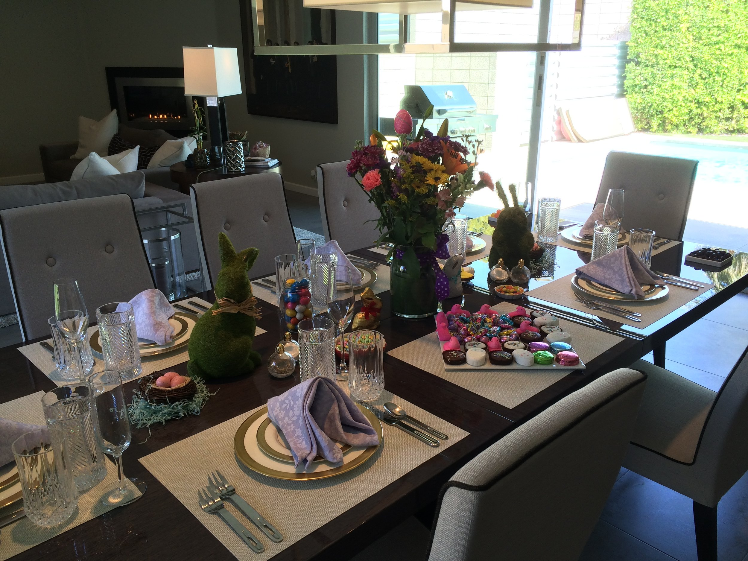 All you do is set your table! (This was for a fabulous Easter brunch in Palm Springs, CA).