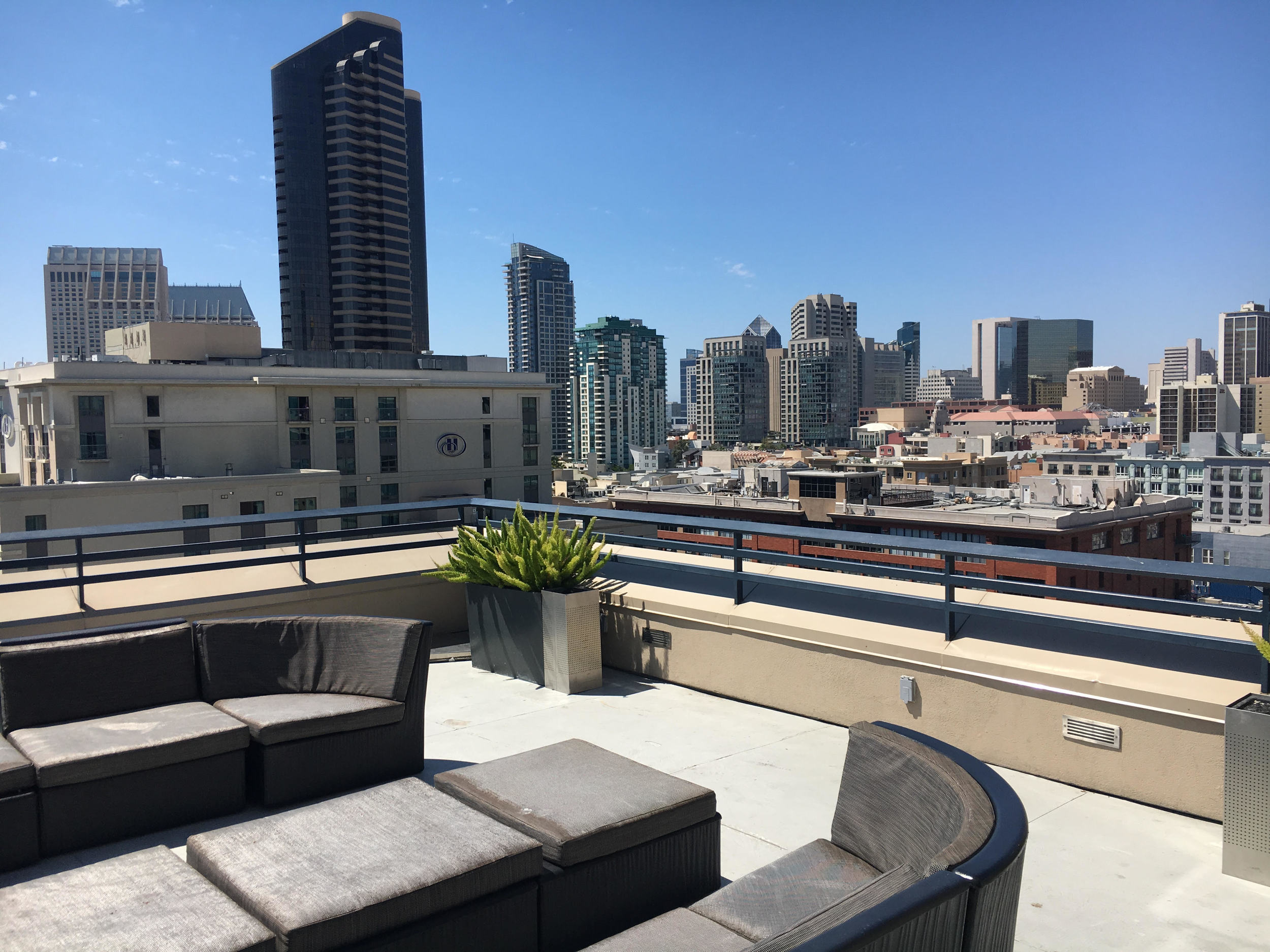 View from Suite patio Hardrock Hotel San Diego