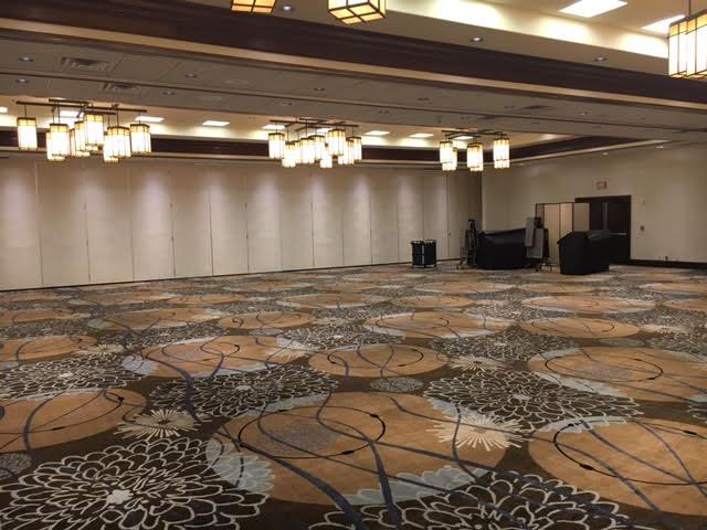 Ballroom Doubletree Ontario. FamTrip Greater Ontario CVB.