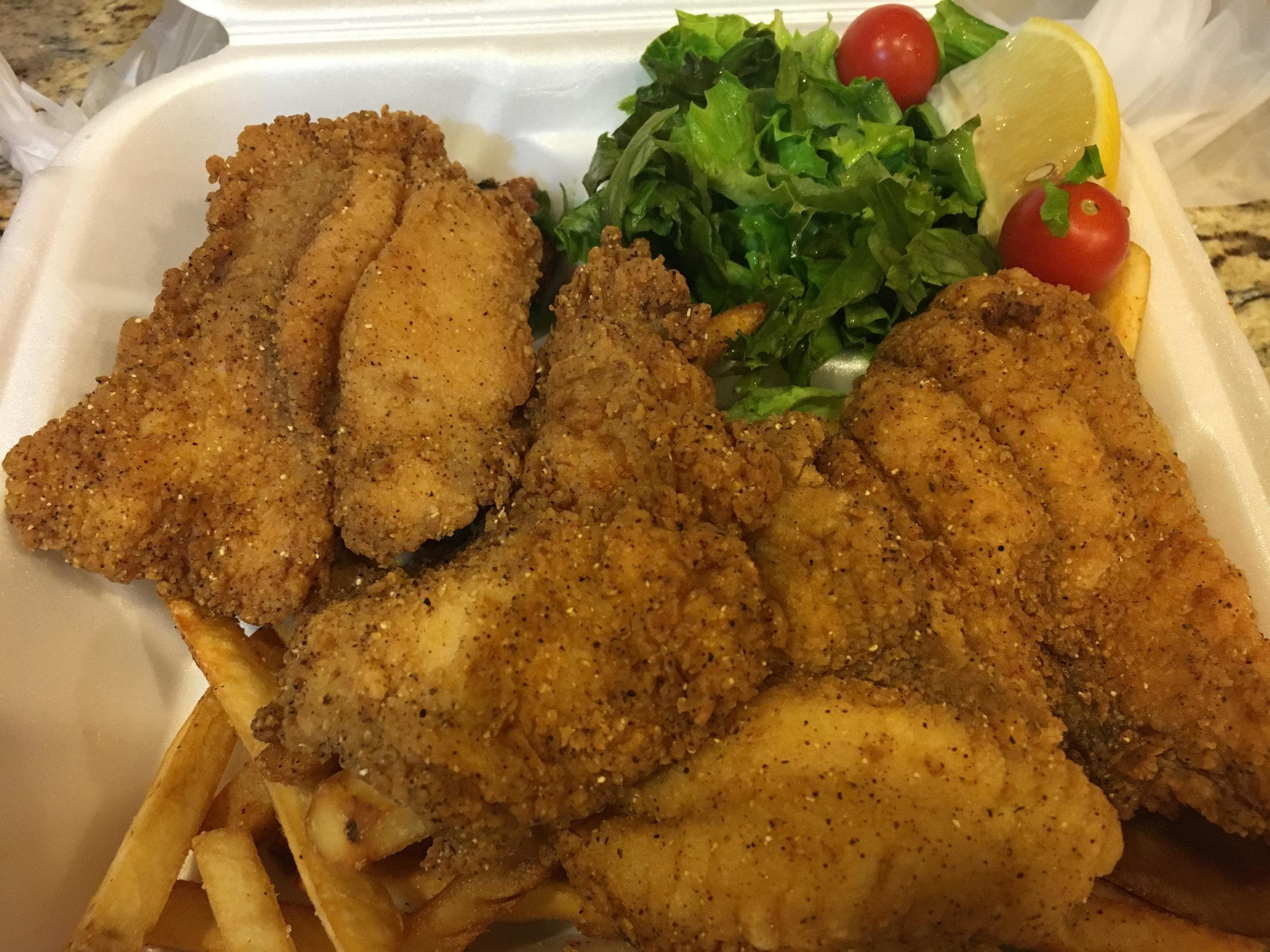 Fried Catfish - Bayou Grill Los Angeles