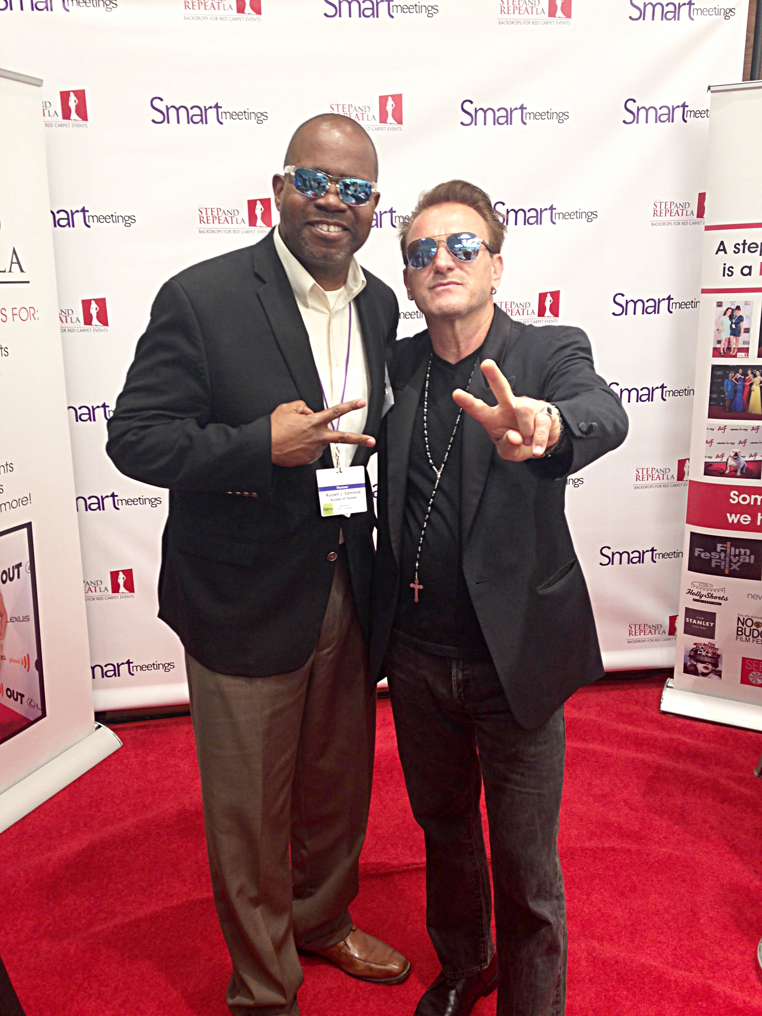 With Bono!