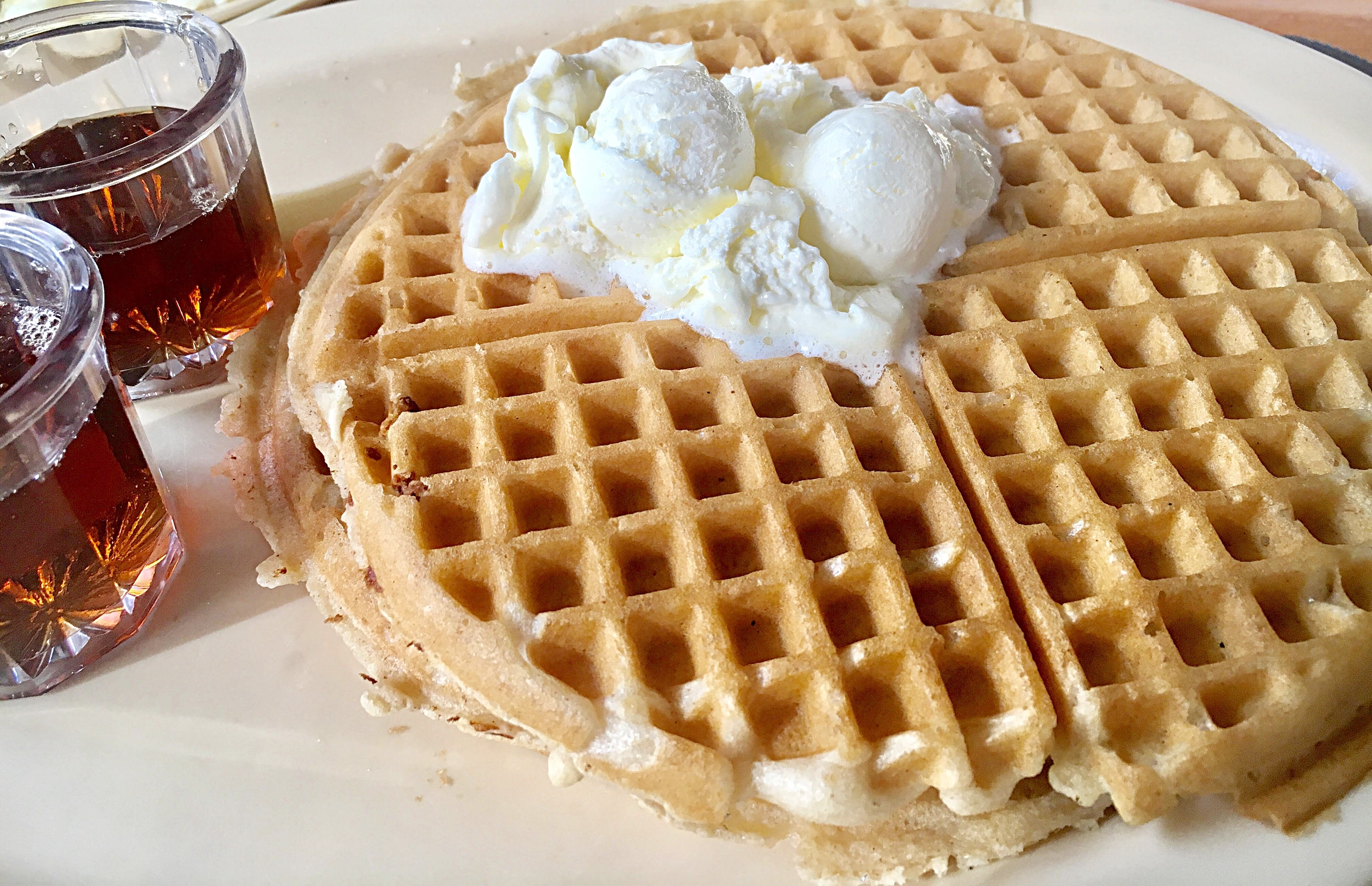 Of course Waffles! Nothing but good eating @Roscoes - Inglewood, CA