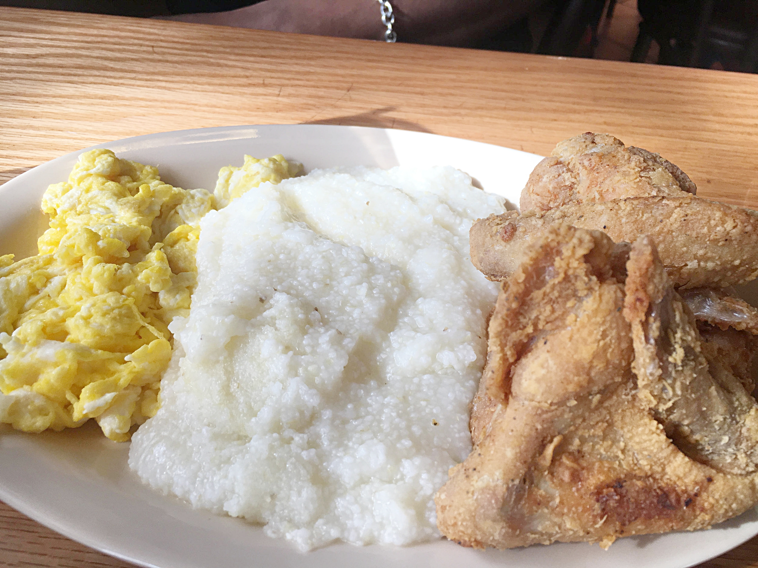 Eggs, Grits & Fried Chicken, only @Roscoes - Inglewood, CA