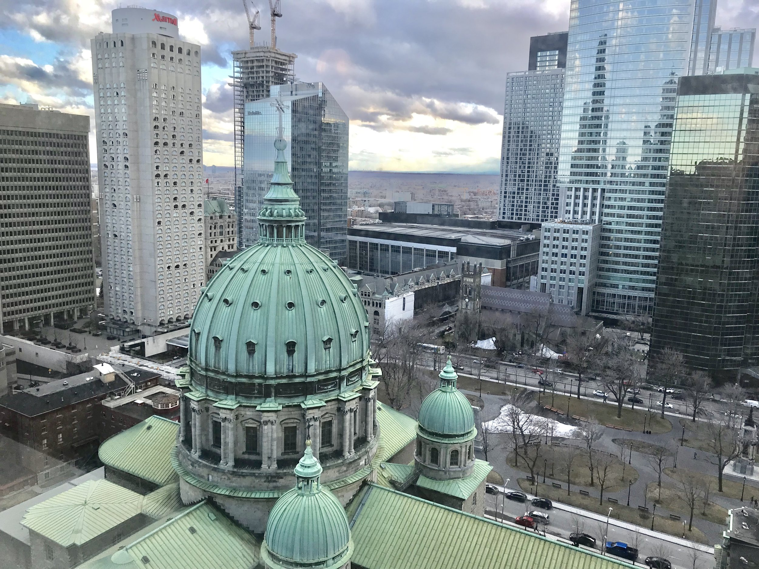 View from guest room at the Fairmont Queen Elizabeth - Montreal