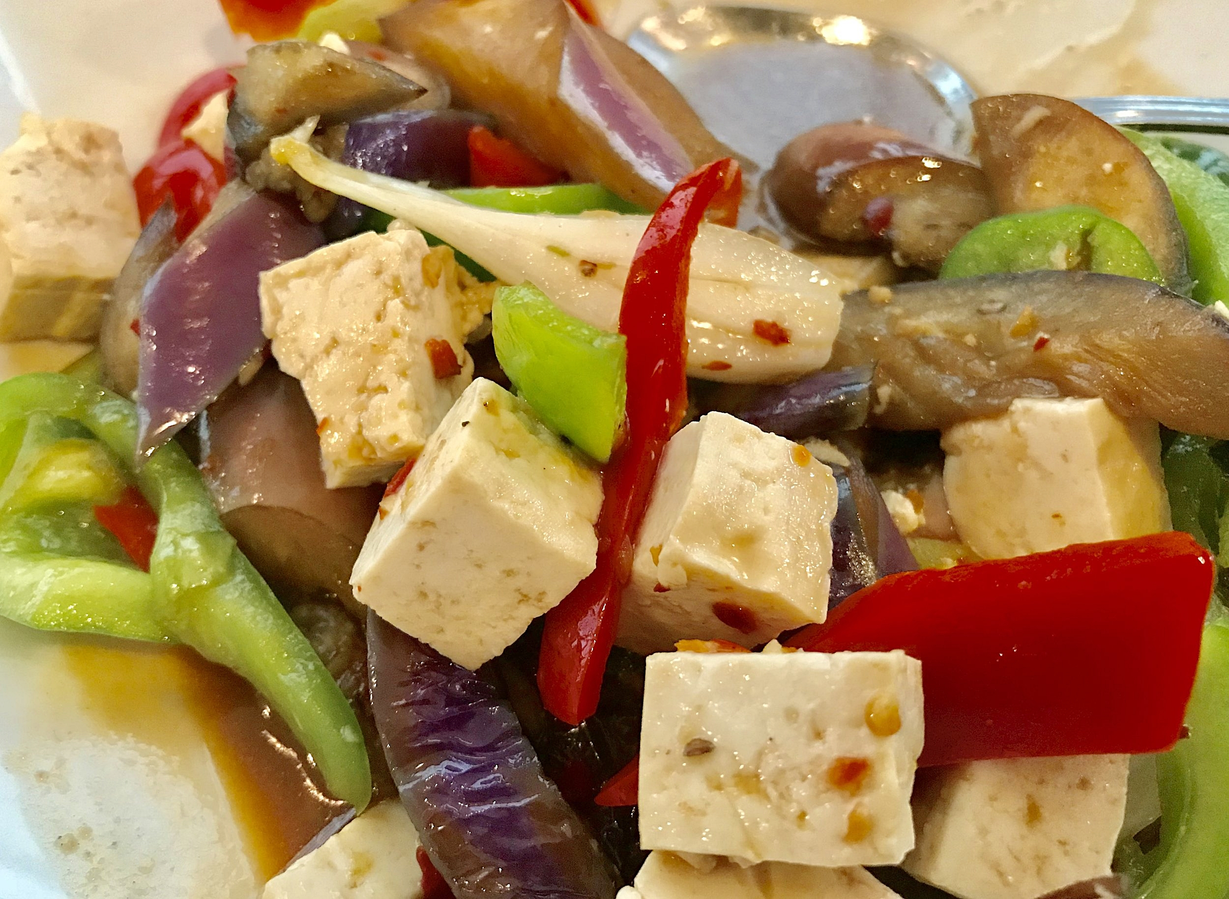 I love the Spicy Egg-Plant with tofu @ThaiDishes on Manchester Ave in Westchester. #Foodie