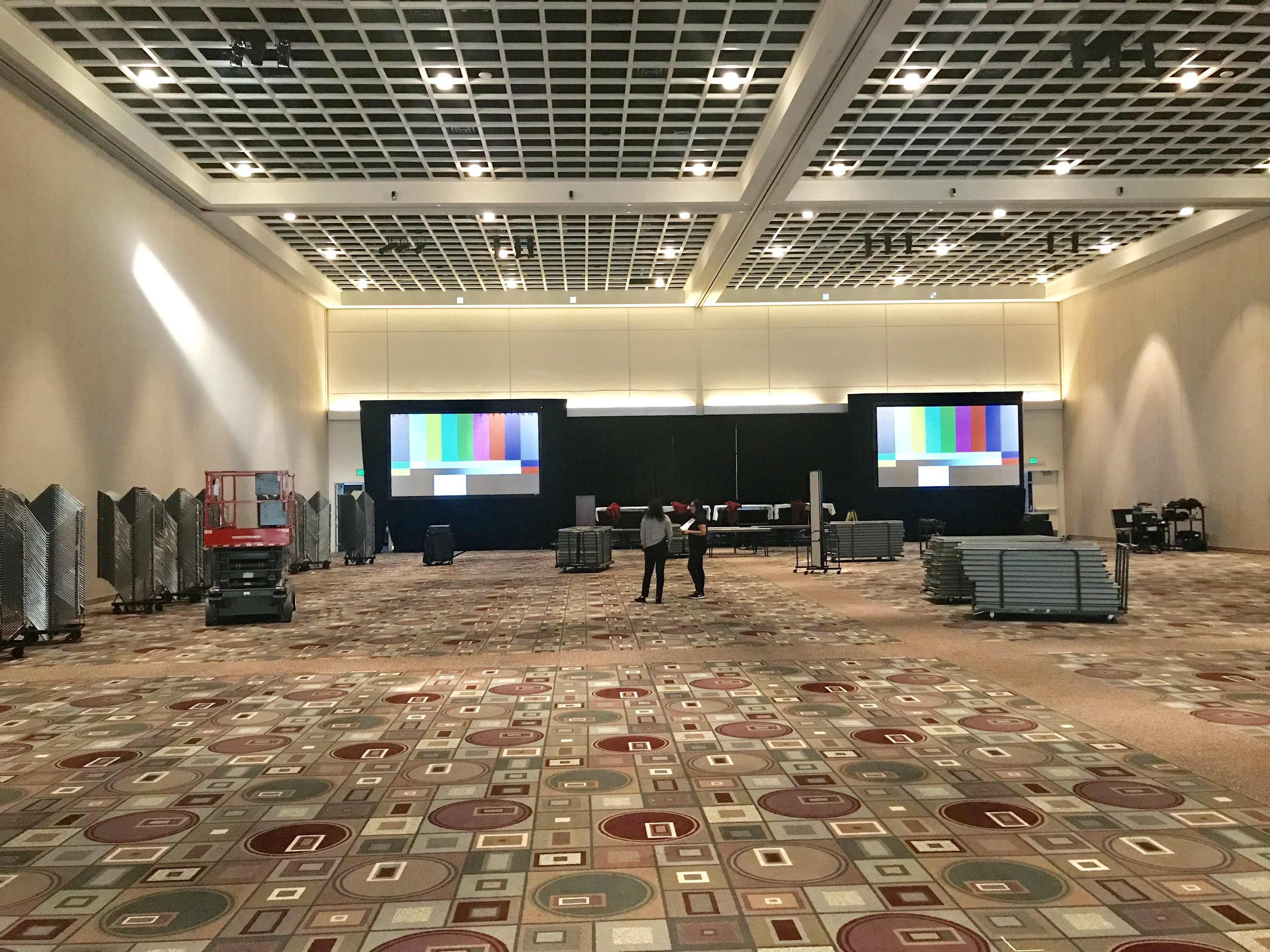 25,000 square foot Ballroom at Pasadena Convention Center.