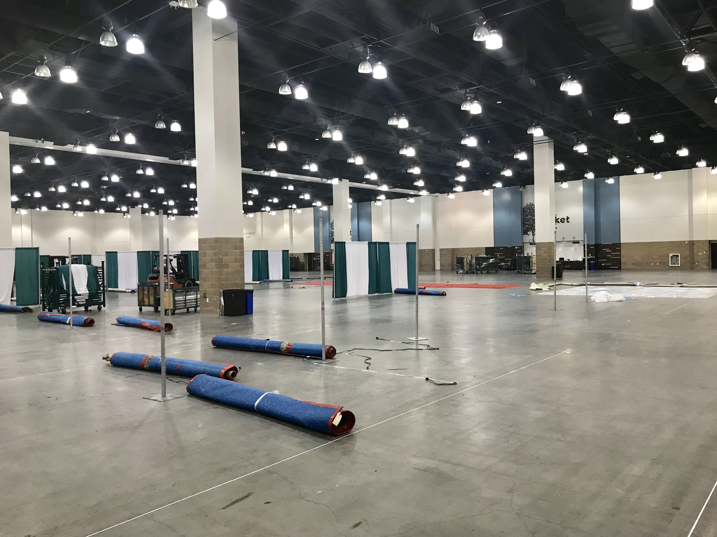 Total Event space is over 100,000 square feet to include 2 Exhibit Halls.