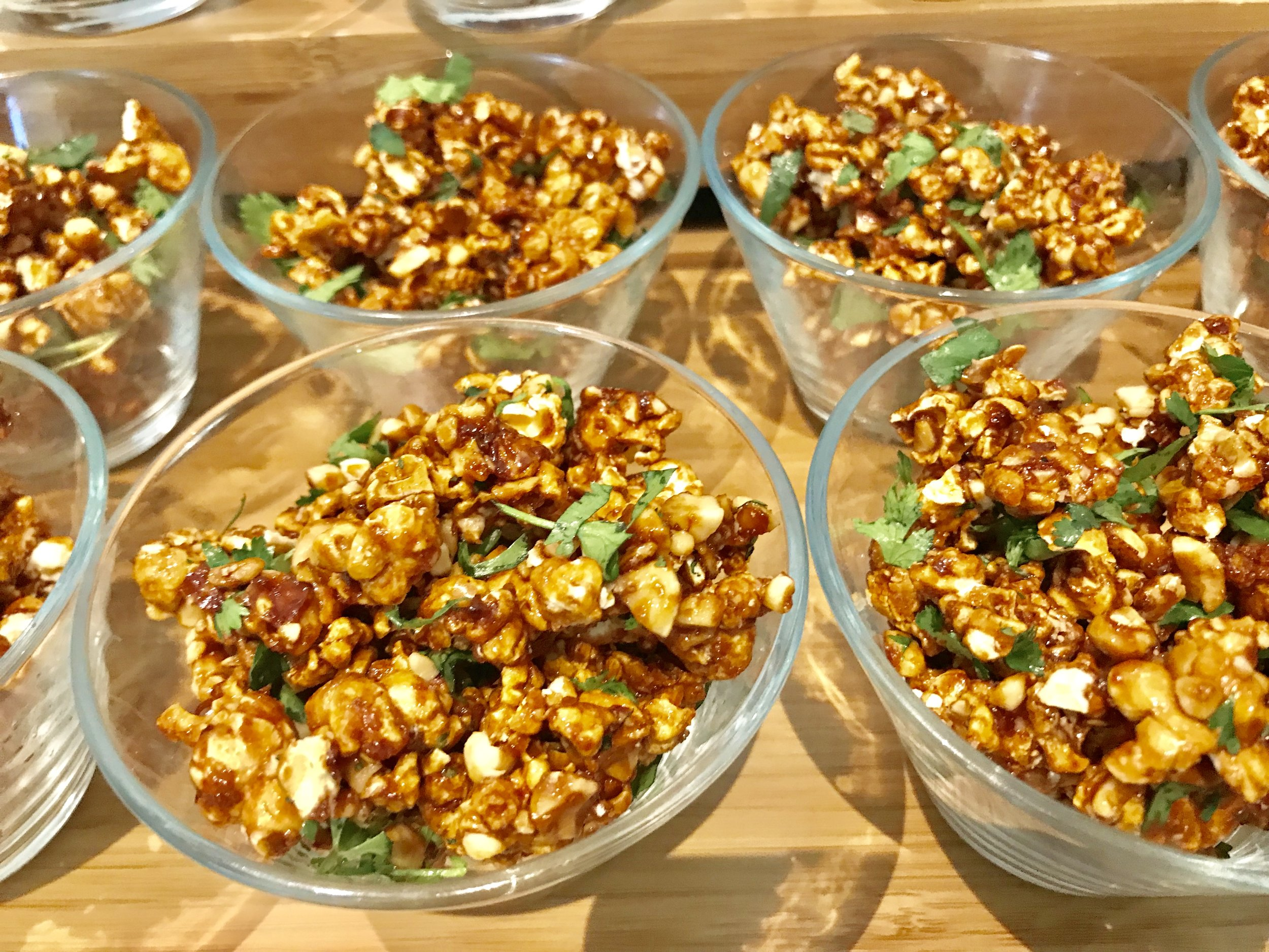Pad Thai Popcorn? So much depth flavors! I ate about 3 of these.  Reception @SheratonLAX. #Foodie