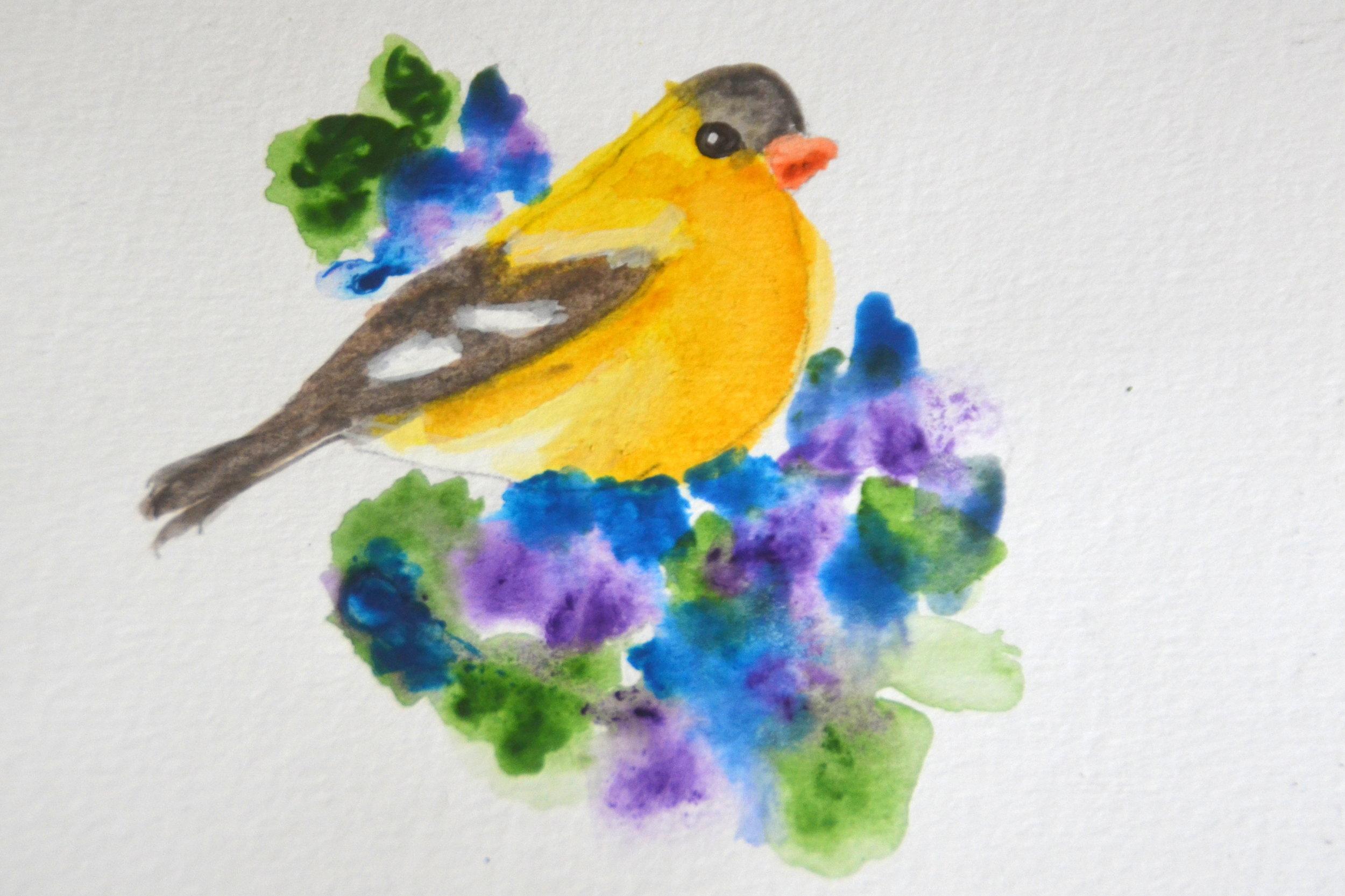 4x6_Goldfinch Painting.JPG