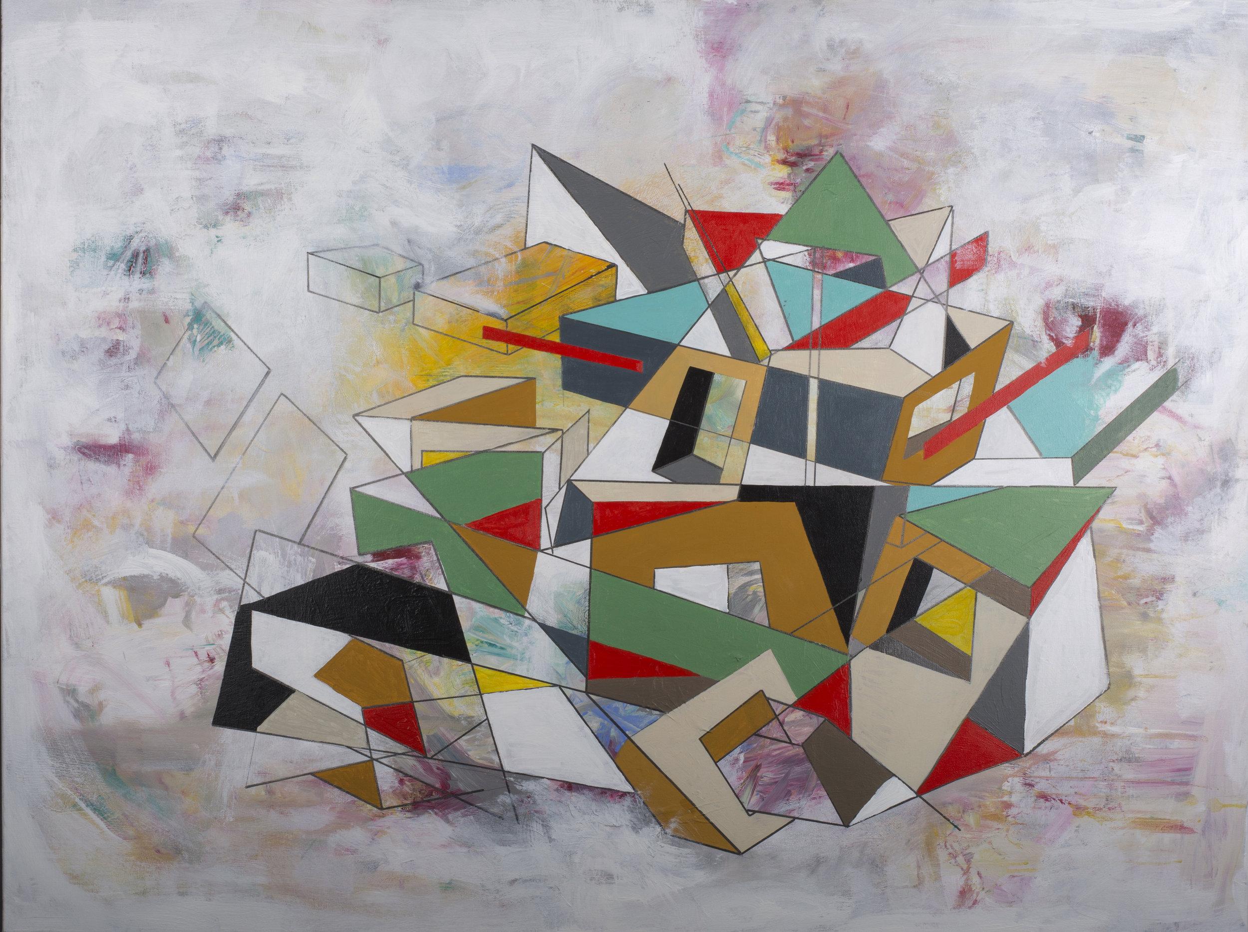 """Metamorphosis I -48"""" x 36"""" Acrylic on Canvas"""