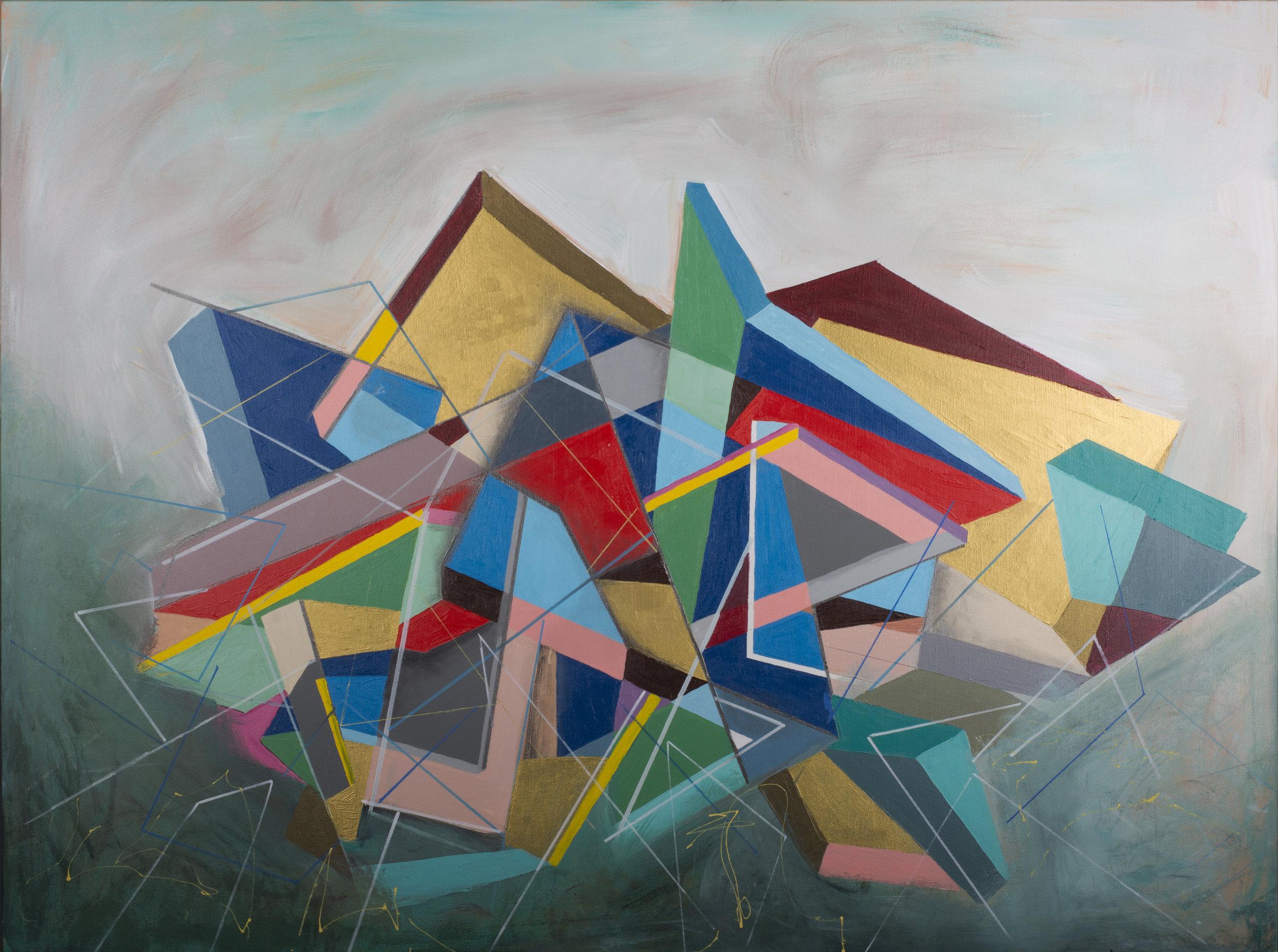 """Metamorphosis II-46"""" x 38"""" Acrylic on Canvas"""