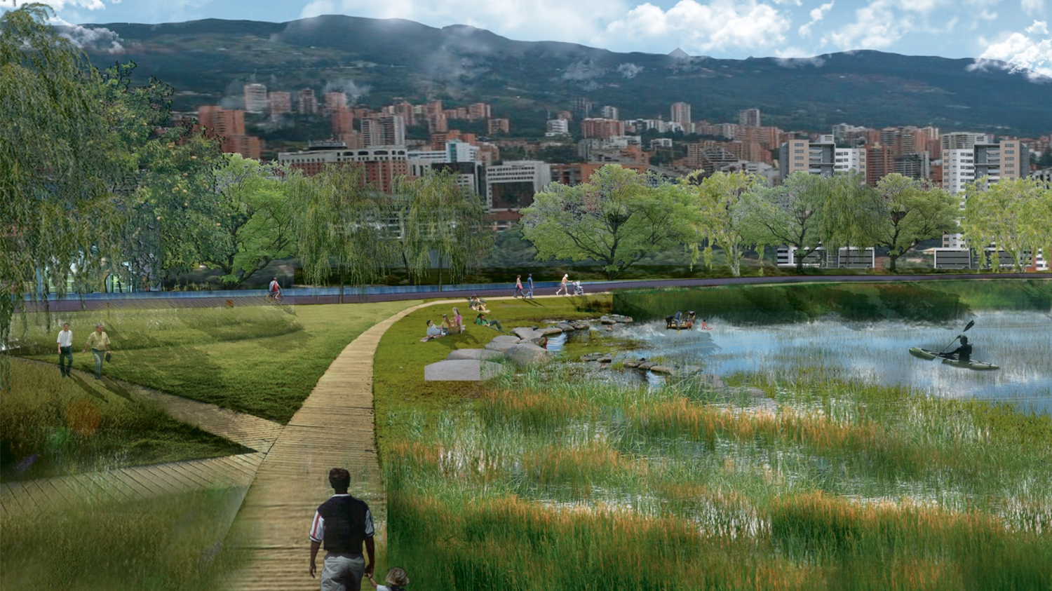 Medellin River Park - Design Competition