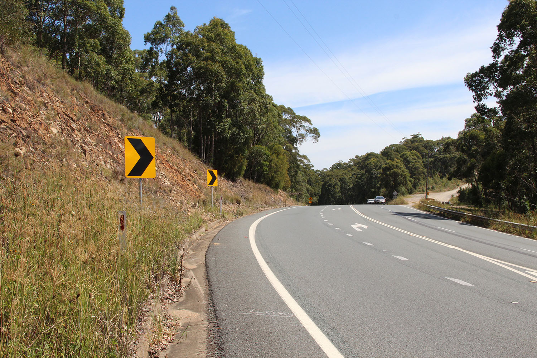 Lattas Point Road turnoff.JPG