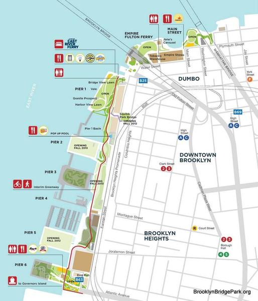 Brooklyn Bridge Park map