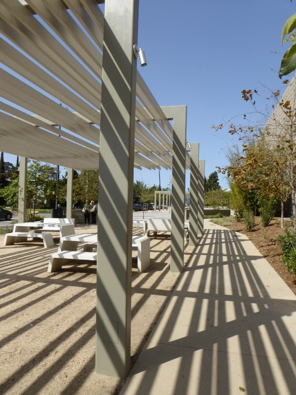 Shade structure & picnic tables & chairs