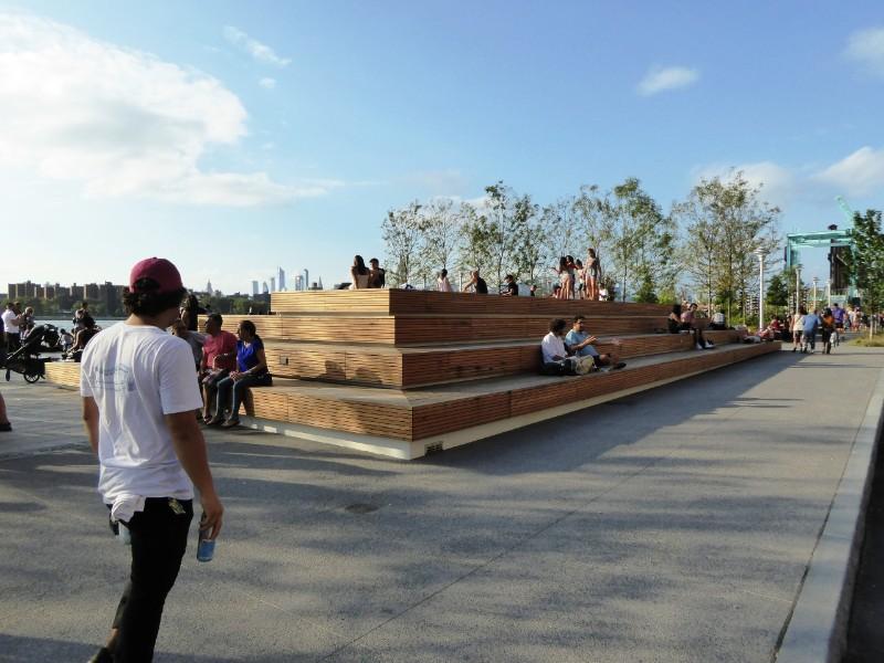 Timber seating deck
