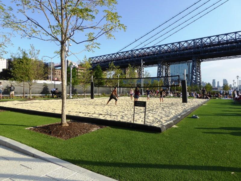 Beach Volley Ball & Williamsburg Bridge beyond